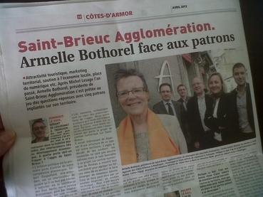 Journal des Entreprises 22 : Armelle Bothorel face aux patrons.