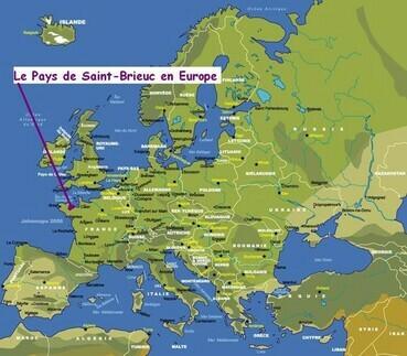 Le Pays de Saint-Brieuc en Europe.